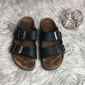 Black Arizona Birkenstock Sandals